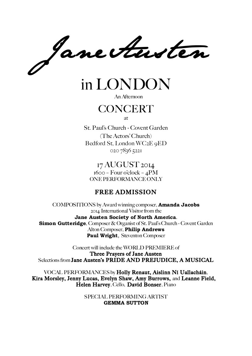 Jane Austen concert